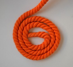 CORDE 100% coton ORANGE 12mm