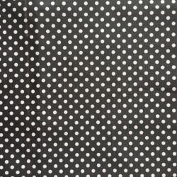 ENDUIT pvc NOIR motif POIS blanc