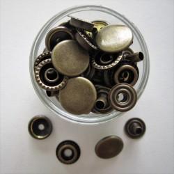 Pressions métalliques ARGENT 15X