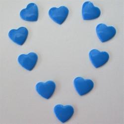 Pressions KAM - COEUR bleu aqua
