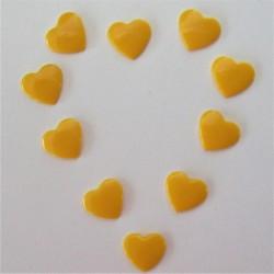 Pressions KAM - COEUR jaune d'or