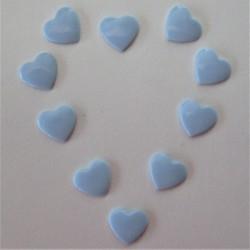 Pressions KAM - COEUR bleu pastel