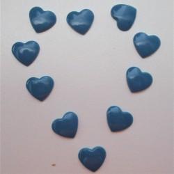 Pressions KAM - COEUR bleu gris