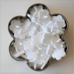Pressions KAM fleur - blanc MAT