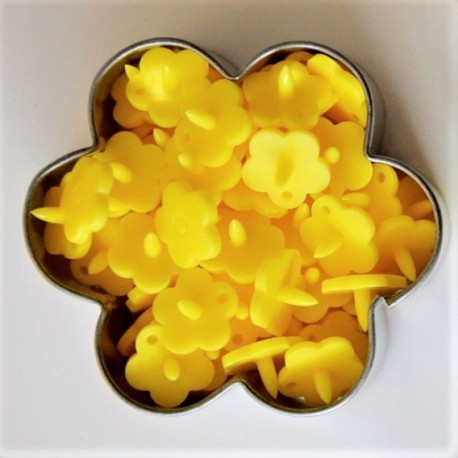 Pressions KAM fleur - jaune MAT