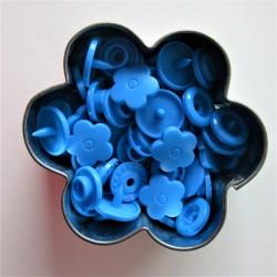 Pressions KAM fleur - bleu aqua MAT