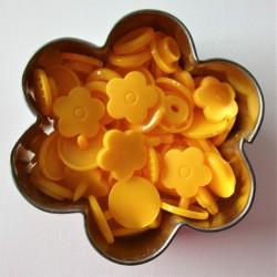 Pressions KAM fleur - jaune d'or MAT