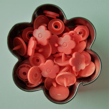 Pressions KAM fleur - saumon MAT