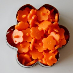 Pressions KAM fleur - orange MAT