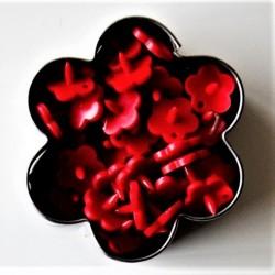 Pressions KAM fleur - **piment rouge** MAT
