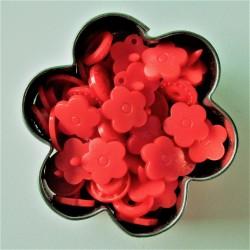 Pressions KAM fleur - rouge MAT