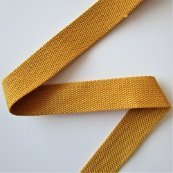SANGLE 100% coton JAUNE D'OR 30mm