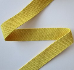 SANGLE 100% coton JAUNE 30mm