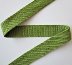 SANGLE 100% coton OLIVE 30mm