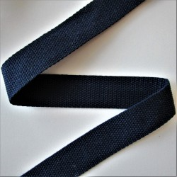 SANGLE 100% coton BLEU MARINE 30mm