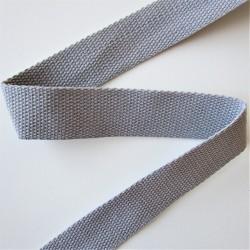 SANGLE 100% coton GRIS 30mm