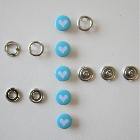 Pressions GRIFFES **COEUR TURQUOISE**