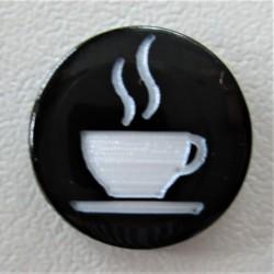 """Pressions KAM BI-COLOR gravées """"1 P'TIT CAFE"""""""
