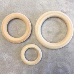 Anneaux de dentition en bois NON TRAITE - Tailles au choix