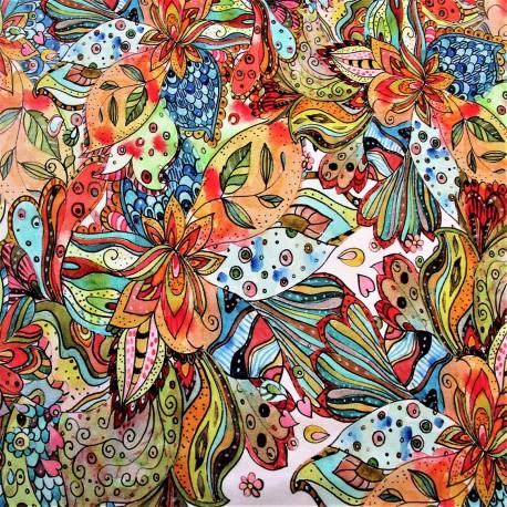 """JERSEY-VISCOSE motif """"FLOWER"""""""