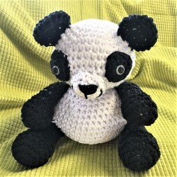 "KIT ""PANDA"" au crochet - coton recyclé"