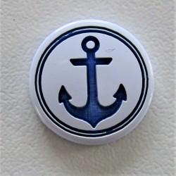 "Pressions KAM gravées ""ANCRE"" marine"