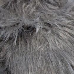 Tissus PELUCHE à poils longs GRIS