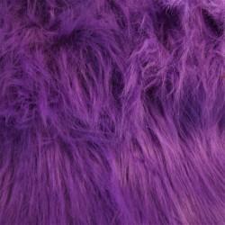 Tissus PELUCHE à poils longs VIOLET