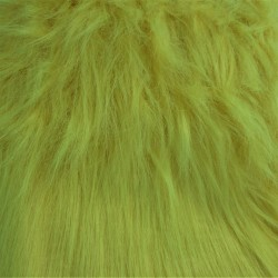 Tissus PELUCHE à poils longs JAUNE
