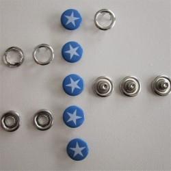 Pressions GRIFFES **ETOILE ** blanc/bleu