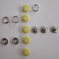 Pressions GRIFFES **ETOILE ** blanc/jaune