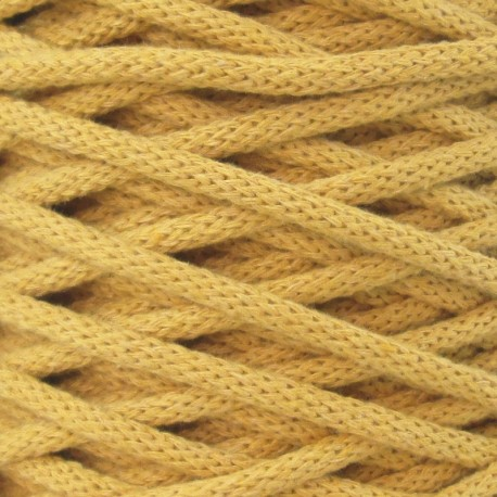 Corde en coton recyclé - MOUTARDE