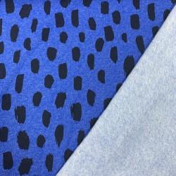 """SWEAT bleu électrique motif """"GEO NOIR"""""""