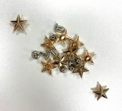 RIVETS 12mm ETOILE OR  x 10