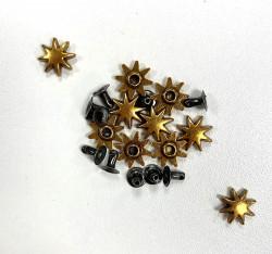 RIVETS 12mm SOLEIL  x 10