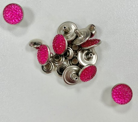 RIVETS DIAM'S ROSE 10mm  x 10
