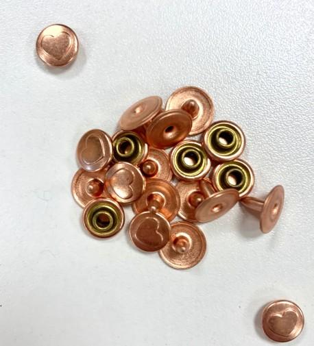 RIVETS coeur cuivré 8/10mm  x 10