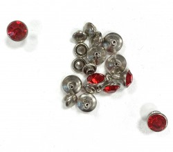 RIVETS 8mm diam's rouge x 10
