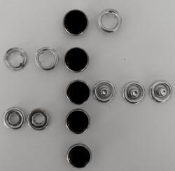 Pressions GRIFFES NACRE noir/argenté
