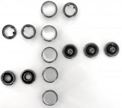Pressions GRIFFES NACRE blanc/gris acier