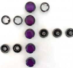 Pressions GRIFFES NACRE violet acier