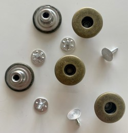 "5 boutons JEANS ""trous"" 17mm BRONZE"