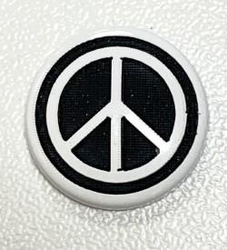 """Pressions KAM BI-COLOR gravées """"PEACE"""""""