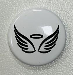 "Pressions KAM BI-COLOR gravées ""ANGEL"" blanc"
