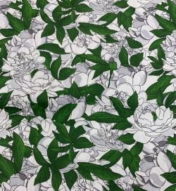 """Coton satiné - motif """"floral rose"""""""